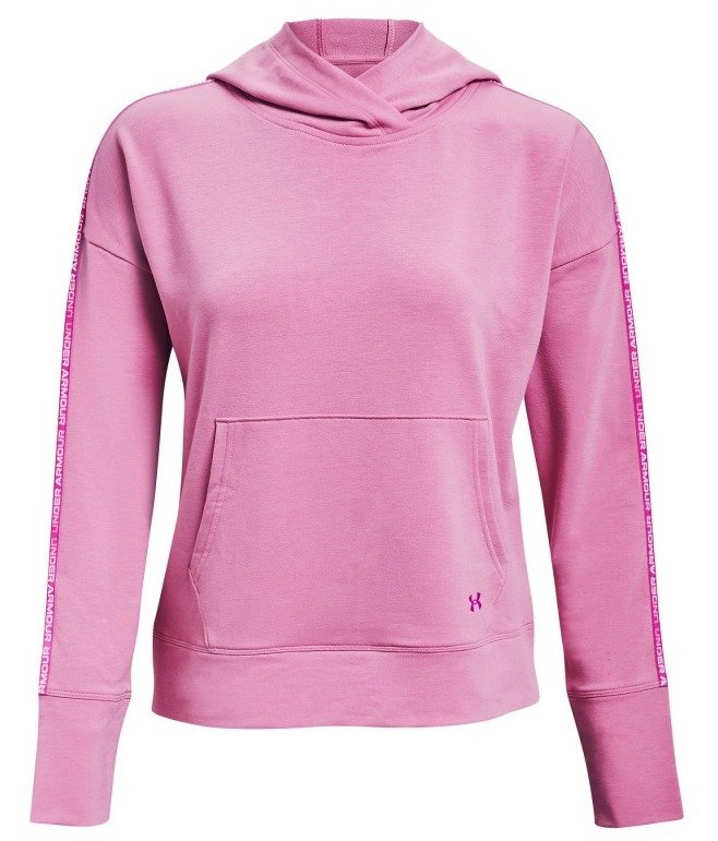 Under Armour UA Rival Terry Taped Hoodie-PNK S