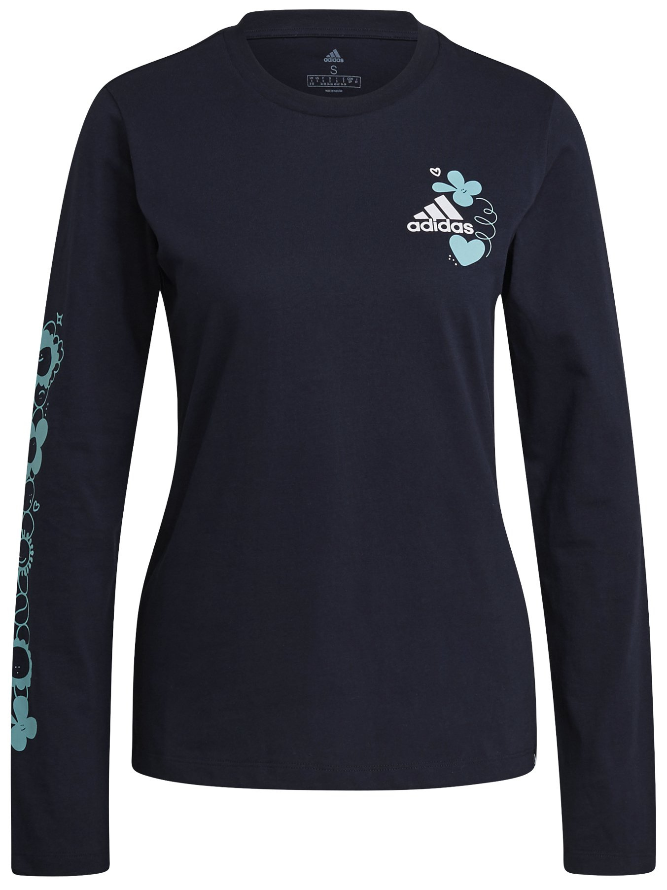 Adidas Floral Long Sleeve Graphic Tee S