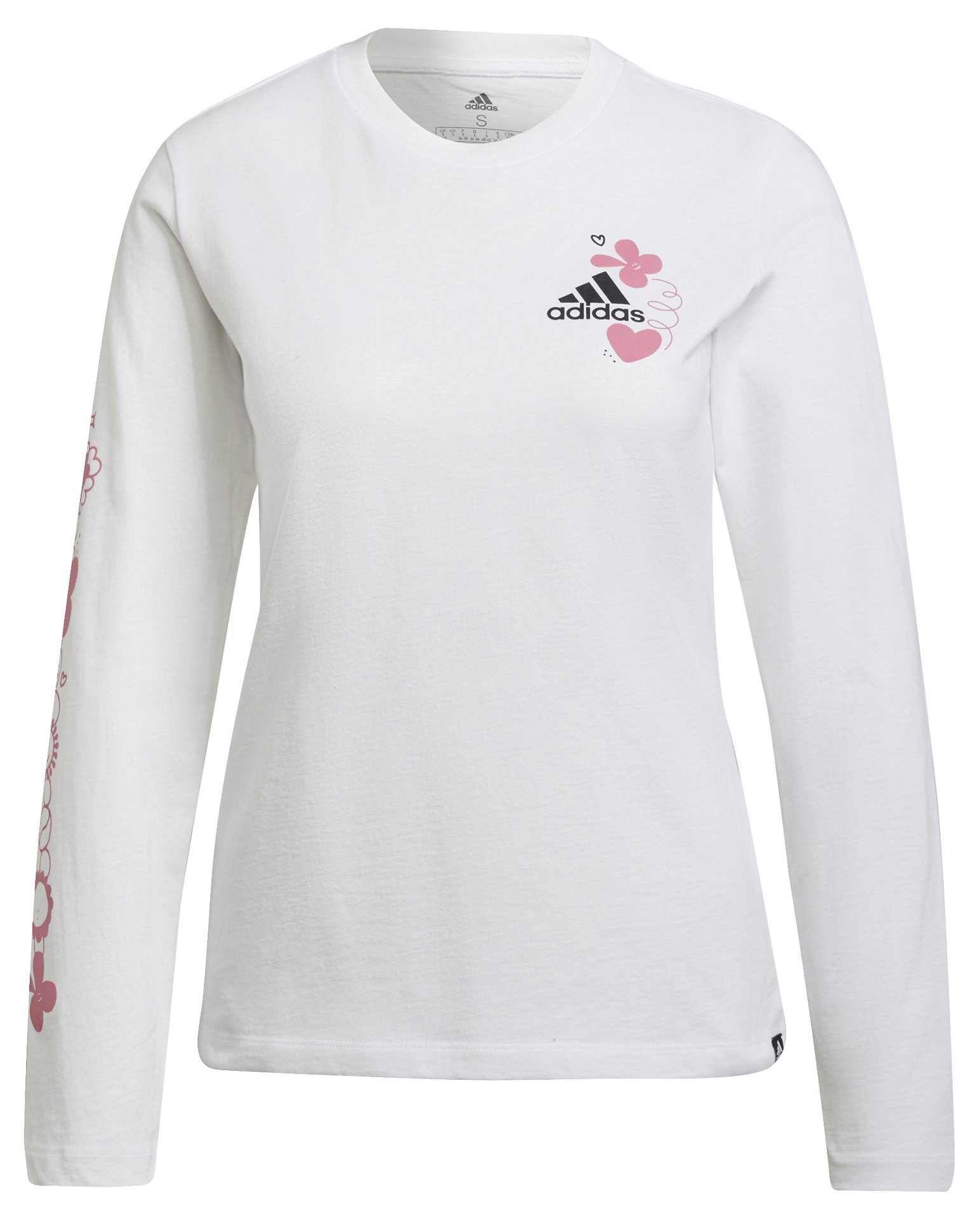 Adidas Floral Long Sleeve Graphic Tee XL