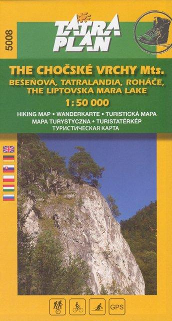 Chočské vrchy, Roháče 1:50 000, ang.
