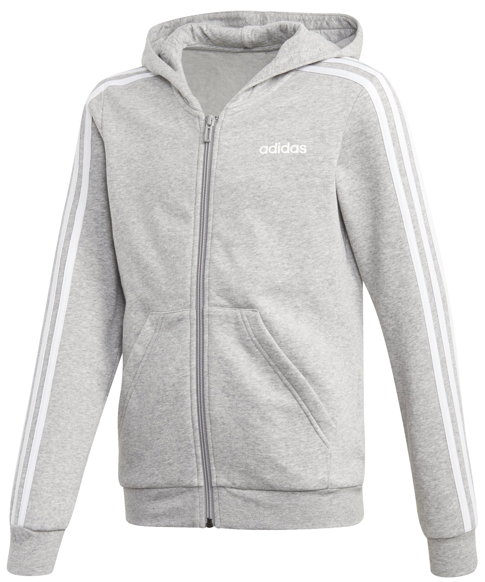Adidas 3 Stripe Zip Hoodie Junior Girls 110