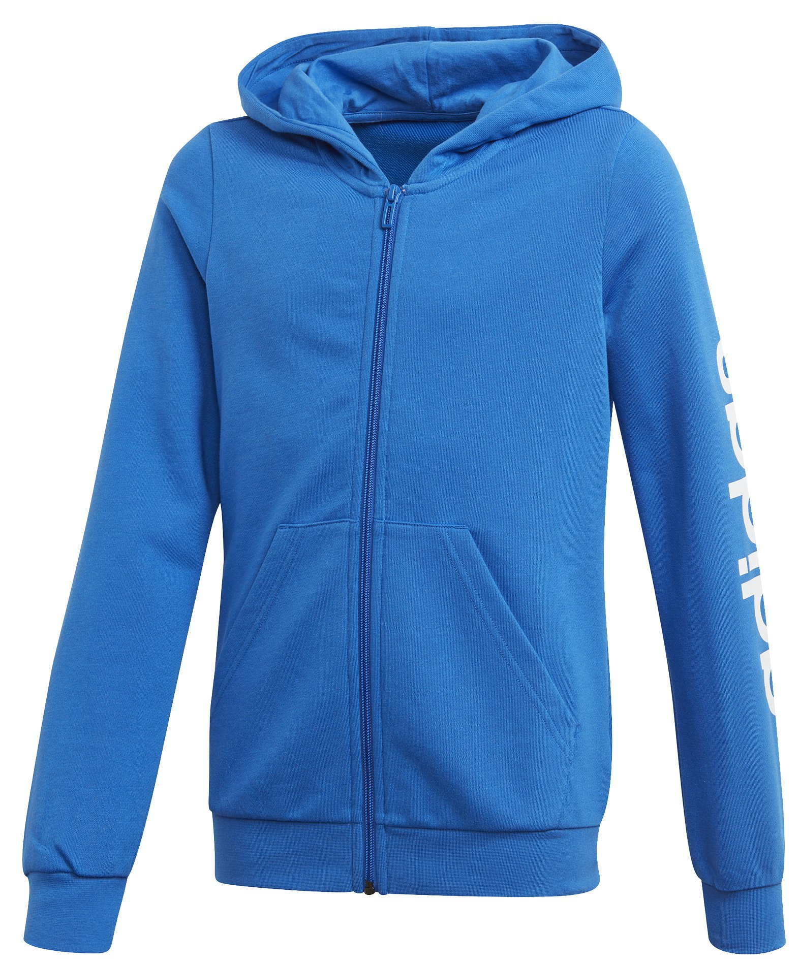 Adidas Youth Girls Essentials Linear Full Zip Hoodie 110