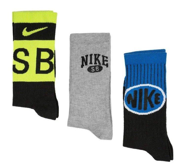 Nike SB Everyday Max Lightweight Skate Crew Socks 3 Pairs S